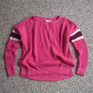Hollister hot pink chunky soft knit sweater XS